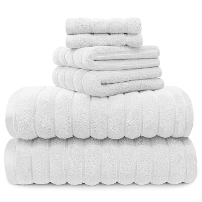 Williamston Cotton 6 Piece Spa Towel Set Color: White