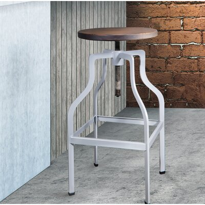 Mcclintock Adjustable Height Swivel Bar Stool Color: Gray
