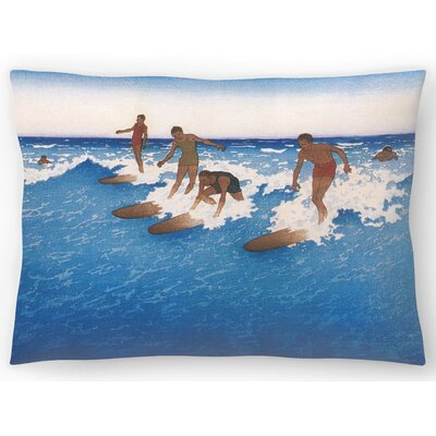 Hawaiian Surfers Lumbar Pillow Size: 14 x 20
