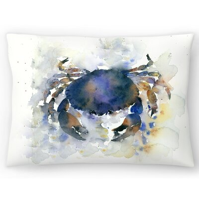 Crab Lumbar Pillow Size: 10 x 14