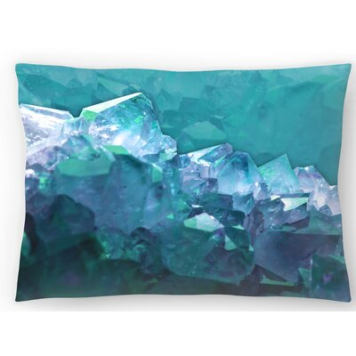 Water Crystals Lumbar Pillow Size: 10 x 14