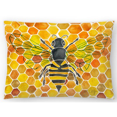 Honey Bee Comb Lumbar Pillow Size: 14 x 20