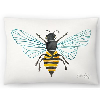 Honey Bee Lumbar Pillow Size: 14 x 20