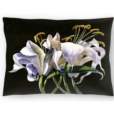 Classical Lilies Lumbar Pillow Size: 10 x 14