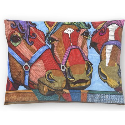 3 Horses Lena and Joanna Lumbar Pillow Size: 14 x 20