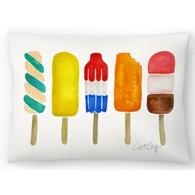 Popsicles Lumbar Pillow Size: 10 x 14