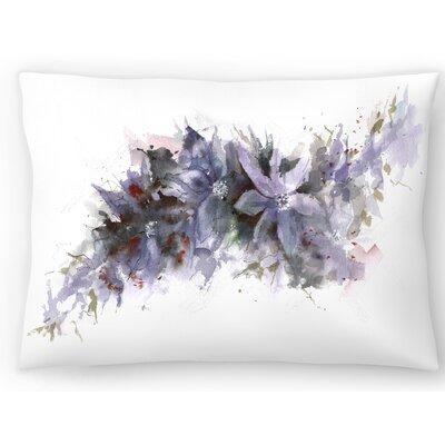 Climbing Clematis Lumbar Pillow Size: 10 x 14