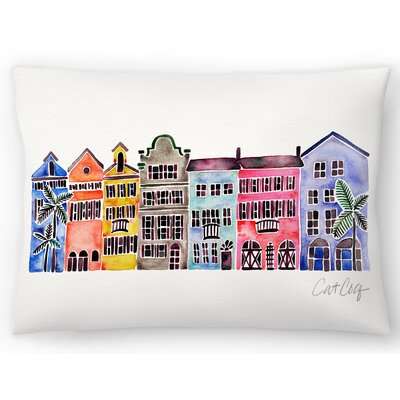 Rainbow Row Lumbar Pillow Size: 14 x 20