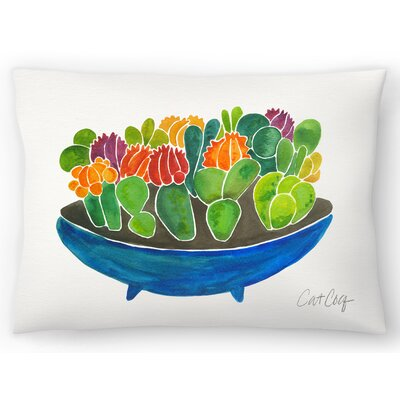 Succulents Lumbar Pillow Size: 10 x 14