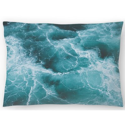 Electric Ocean Lumbar Pillow Size: 10 x 14