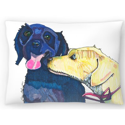 Dog Sniffing Lumbar Pillow Size: 14 x 20