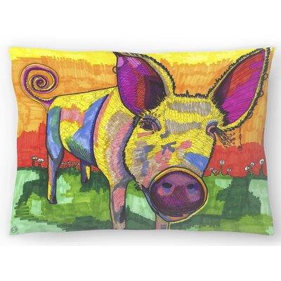 Pig Lumbar Pillow Size: 10 x 14