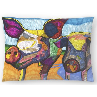 2 Pigs Hildi and Mabel Lumbar Pillow Size: 14 x 20