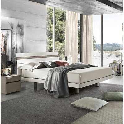 Joker Platform Bed Size: Queen, Color: Matt Mother of Pearl Lacquered