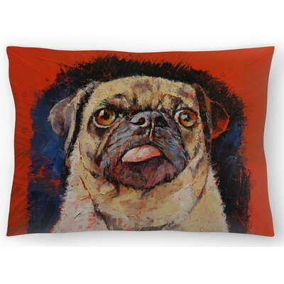 Pug Dog Portrait Lumbar Pillow Size: 14 x 20
