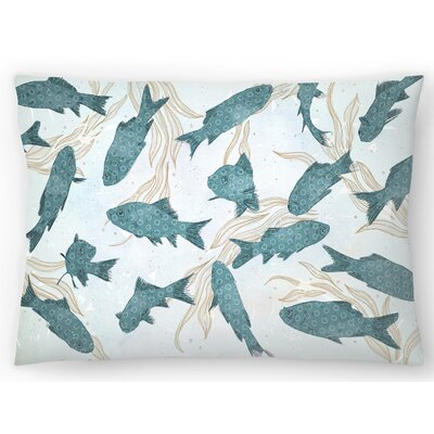 Fish Lumbar Pillow Size: 14 x 20