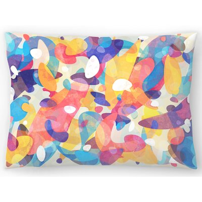 Chaotic Construction Lumbar Pillow Size: 14 x 20