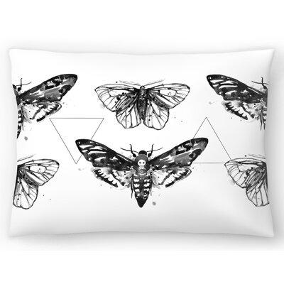 Geometric Moths Repeat Tile Lumbar Pillow Size: 10 x 14