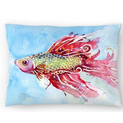 Fish Swim Lumbar Pillow Size: 14 x 20