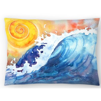 Facing East Ocean Wave Lumbar Pillow Size: 10 x 14