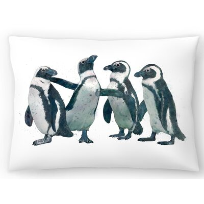 Pen Guin Party Lumbar Pillow Size: 14 x 20