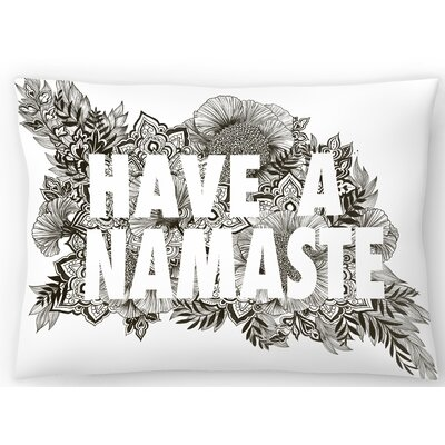 Have A Namaste Lumbar Pillow Size: 14 x 20