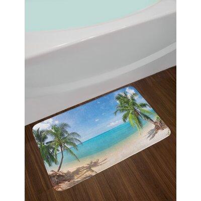 Ocean Non-Slip Plush Bath Rug