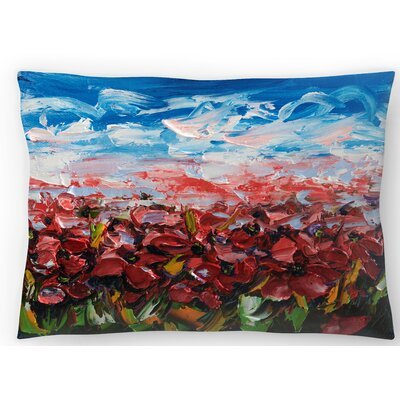 Poppy Field Lumbar Pillow Size: 10 x 14