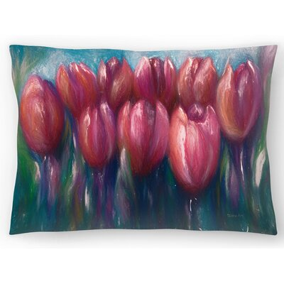 Colorful Tulips Lumbar Pillow Size: 14 x 20