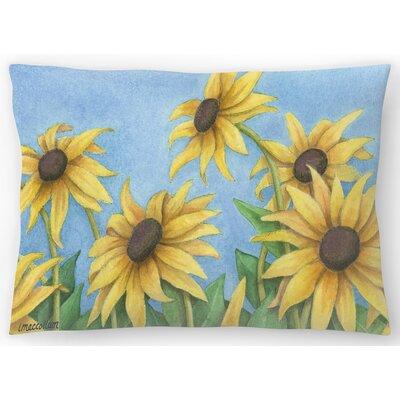 Sunflowers Lumbar Pillow Size: 14 x 20