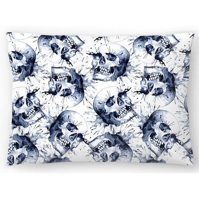 Skull Pattern Repeat Tile Lumbar Pillow Size: 14 x 20