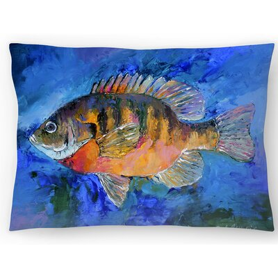 Gill Fish Lumbar Pillow Size: 10 x 14