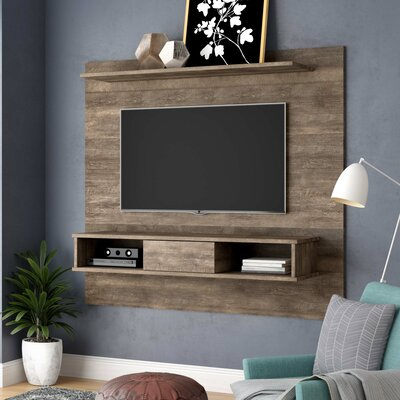 Norloti Mid-Century 2-Shelf Entertainment Center Color: Distressed Brown
