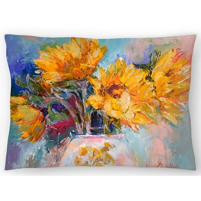 Sunflowers Lumbar Pillow Size: 10 x 14