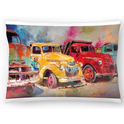 Old Trucks Lumbar Pillow Size: 10 x 14