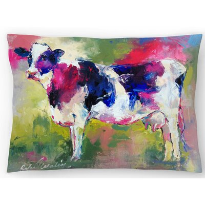 Standing Cow Lumbar Pillow Size: 10 x 14