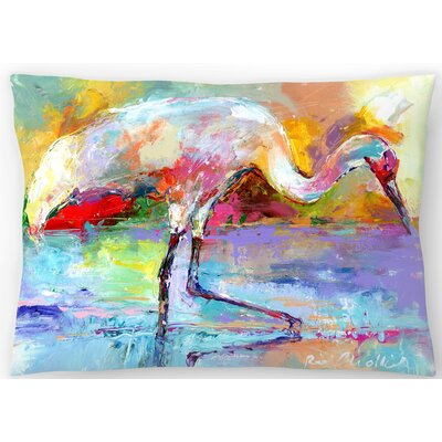 Crane Lumbar Pillow Size: 14 x 20