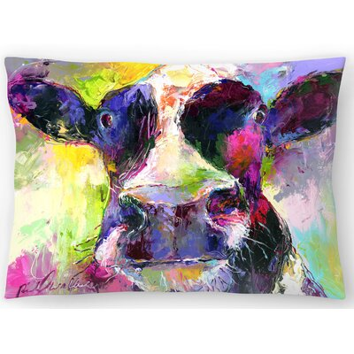 Cow Lumbar Pillow Size: 10 x 14