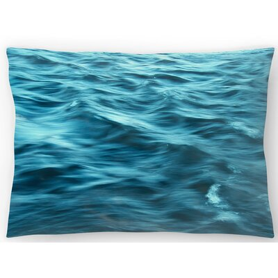 Shades of Blue Lumbar Pillow Size: 14 x 20