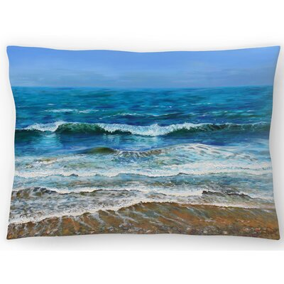 Waves Lumbar Pillow Size: 14 x 20