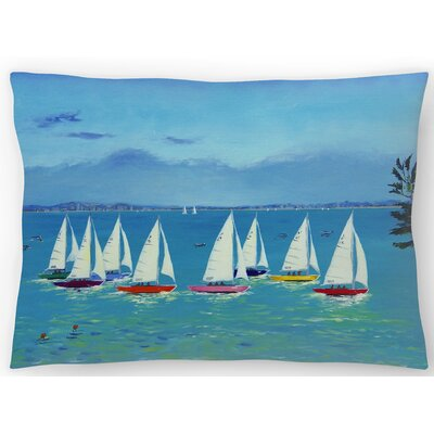 Summer Sailing Lumbar Pillow Size: 14