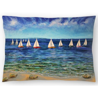 Sails Near And Far Lumbar Pillow Size: 14