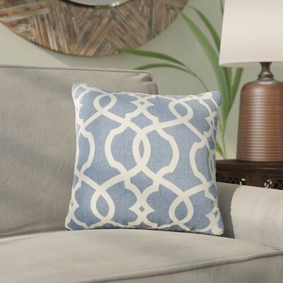 Brennan Damask Throw Pillow Size: 16.5 H x 16.5 W x 5 D, Color: Blue
