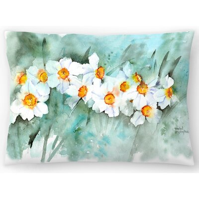 Narcissus in Line Lumbar Pillow Size: 10 x 14