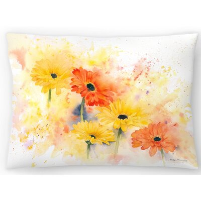Gerbera Lumbar Pillow Size: 10 x 14