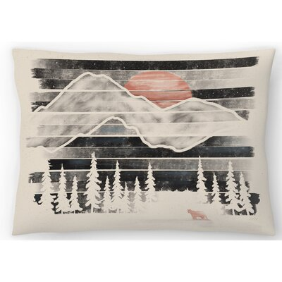Mountain Lion at Midnight Lumbar Pillow Size: 14 x 20