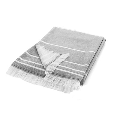 Wesner Terry Cotton Bath Towel Color: Gray