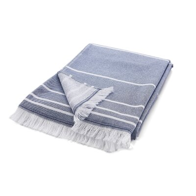 Wesner Terry Cotton Bath Towel Color: Navy Blue