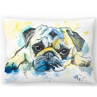 Pug Lumbar Pillow Size: 14 x 20