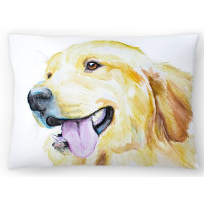 Golden Retriever Lumbar Pillow Size: 14 x 20